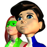Beta Boy and Gamma Girl Stock Image