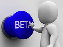 Beta Button Shows Software Trials And Versions Royalty Free Stock Images