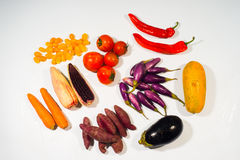 Beta carotene vegetable  set Royalty Free Stock Photography