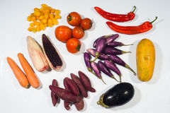 Beta carotene vegetable set Royalty Free Stock Photo