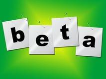 Beta Download Indicates Application Develop en Proef stock illustratie