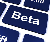 Beta Key Shows Development Or Demo Version Stock Images