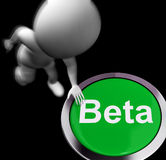 Beta Pressed Shows Software Testing And Development Stock Photography