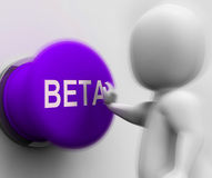 Beta Pressed Shows Software Trials And Versions Stock Photo