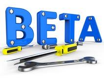 Beta Software Represents Trial Develop en Toepassing stock illustratie