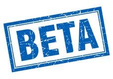 Beta square stamp Stock Images