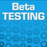 Beta Testing Blue Gears Background Ilustração Royalty Free