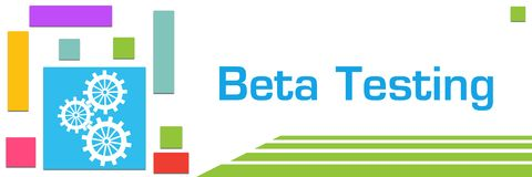 Beta Testing Colorful Squares Left illustrazione vettoriale