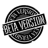 Beta version stamp. Grunge design with dust scratches. Effects can be easily removed for a clean, crisp look. Color is easily changed Royalty Free Stock Images