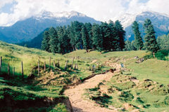 Betaab valley (4). Betaab valley in Kashmir in India Stock Photo