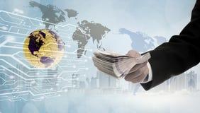 Betaal geldpas digitale online bankieren stock fotografie