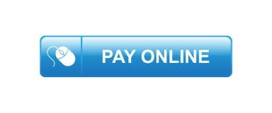 Betaal online nu stock illustratie