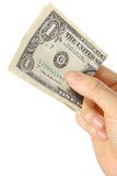 Betaal U S 1 dollarsrekening Royalty-vrije Stock Afbeelding