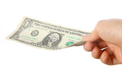 Betaal U S 1 dollarsrekening Stock Foto