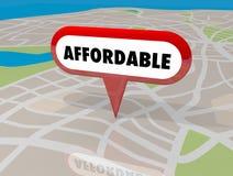 Betaalbare Huisvesting Real Estate die de Speld 3d Illu bouwen van de Bezitskaart royalty-vrije illustratie
