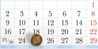 Betaaldag op de lijst van kalender Stock Afbeelding