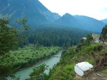 Betab Valley Landscape in Kashmir-2. A beautiful landscape in the season of a monsoon with a river flowing Stock Image