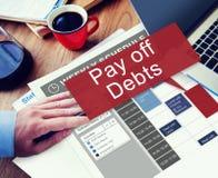Betala av konkurs Bill Credit Concept för skuldlånpengar Royaltyfri Foto