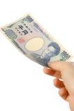 Betala en räkning för japan 1000YEN Royaltyfri Fotografi