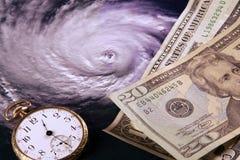 betala för orkan Arkivbild