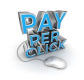 Betala per klicktext och musen, begreppet 3d stock illustrationer