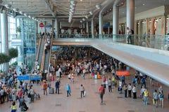 betalad parkering för flygplatsdomodedovo moscow Arkivbilder