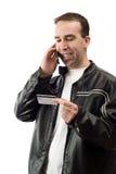 betalande telefon arkivbilder