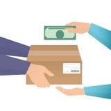 Betaling door contant geld Stock Foto's