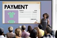 Betaling het Online het Winkelen Concept van Voorzien van een netwerkinternet Stock Foto