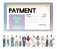 Betaling het Online het Winkelen Concept van Voorzien van een netwerkinternet Stock Foto's