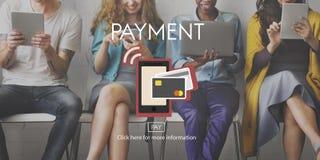Betaling NFC dichtbij Gebieds de Communicatie Portefeuille Online Concep van Mobiel Royalty-vrije Stock Afbeeldingen