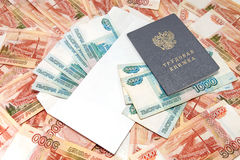 Betaling van lonen in enveloppen Royalty-vrije Stock Fotografie