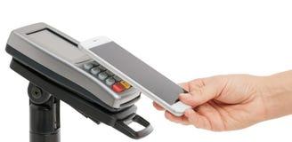 Betaling zonder contact met NFC-technologie royalty-vrije stock afbeelding