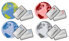 betalning över hela världen Royaltyfri Bild