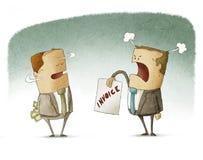 Betalning för affärsmannederlagpengar Arkivfoton