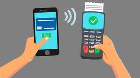 Betalning från den smarta telefonen Royaltyfri Fotografi