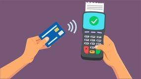 Betalning från den smarta telefonen arkivbilder