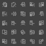 Betalning med NFC vektor illustrationer