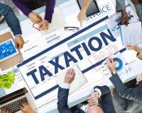 Betalning mottaget skattskattTid begrepp Arkivbild