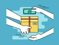 Betalning vid kassa för uttrycklig leverans royaltyfri illustrationer