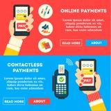 Betalningbaner med handen vektor illustrationer