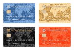 Betalningkortdesign vektor illustrationer