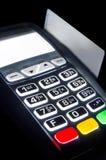Betalningterminal med belysningtangentbordet Royaltyfri Bild