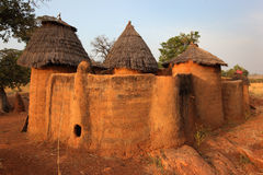 Betammaribe, celeiro, Benin imagem de stock