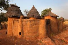 Betammaribe, graanschuur, Benin stock afbeelding