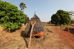 Betammaribe granary, Benin Arkivbilder