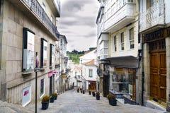 Betanzos Galicia/Spanien-Augusti 25, 2017: Mycket brant gataintelligens Fotografering för Bildbyråer