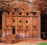 Bete Abba Libanos rock-hewn church, Lalibela Ethiopia Stock Photography