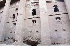 Bete Medhane Alem-monolithic rock-cut church in Lalibela Stock Images