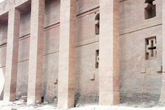 Bete Medhane Alem - monolithic rock-cut church in Lalibela Royalty Free Stock Image